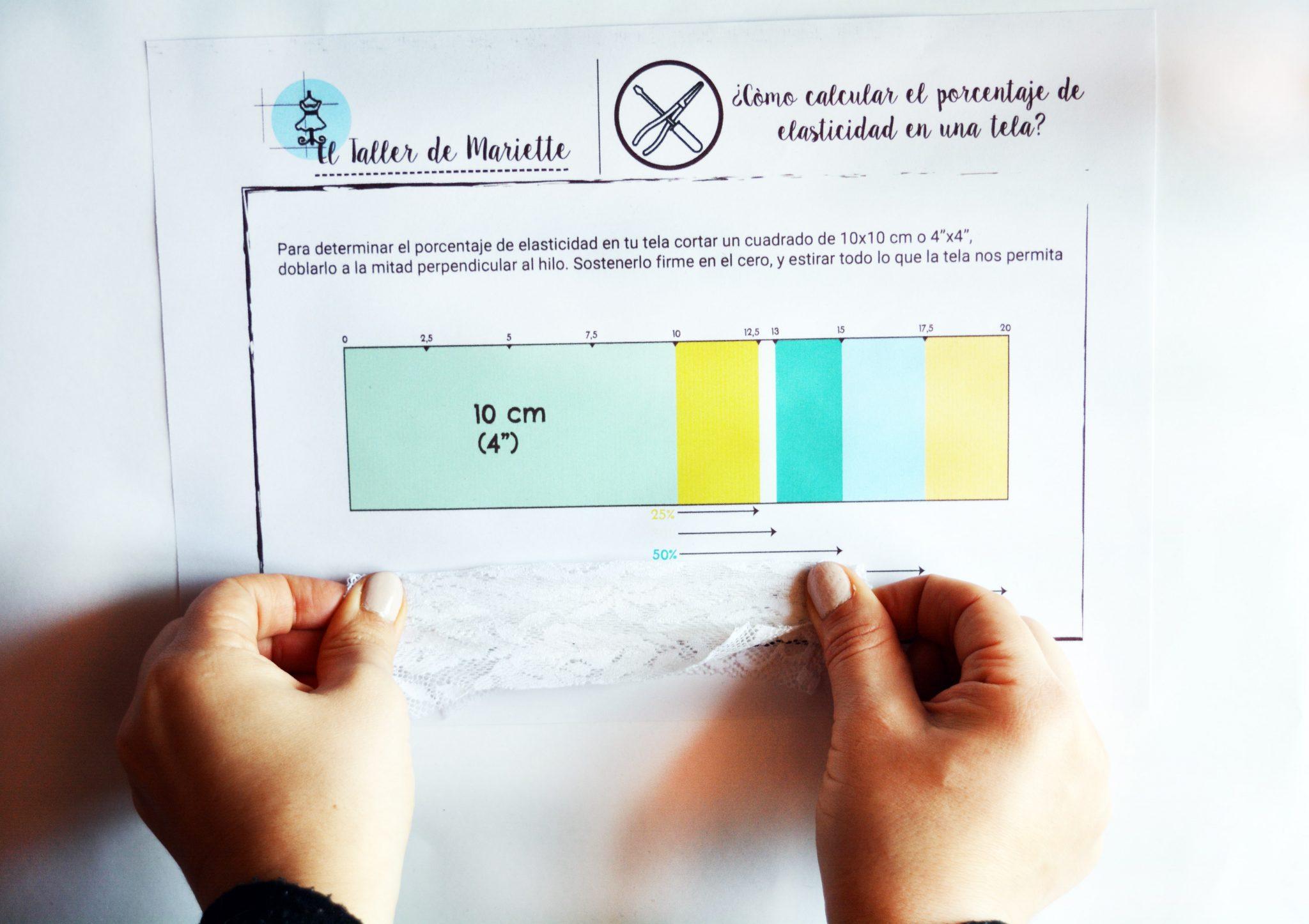 Cómo calcular el porcentaje de elasticidad de una tela? + Guía ...