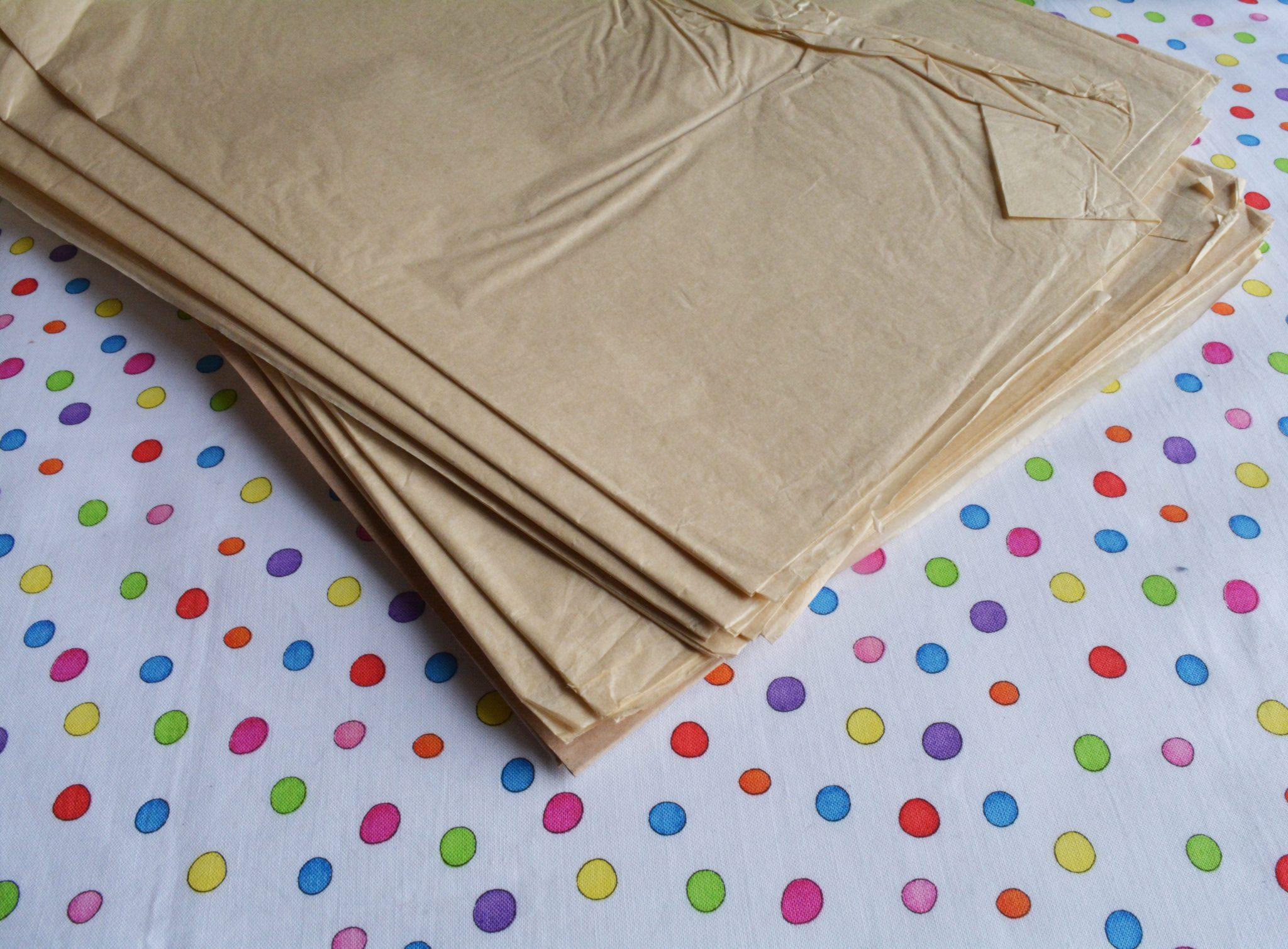 352fa3ac0 Papel de molde: Es un papel fino de textura sedosa y muy delicado. Se  desgarra fácilmente. No lo recomiendo para el trazado de las  transformaciones.