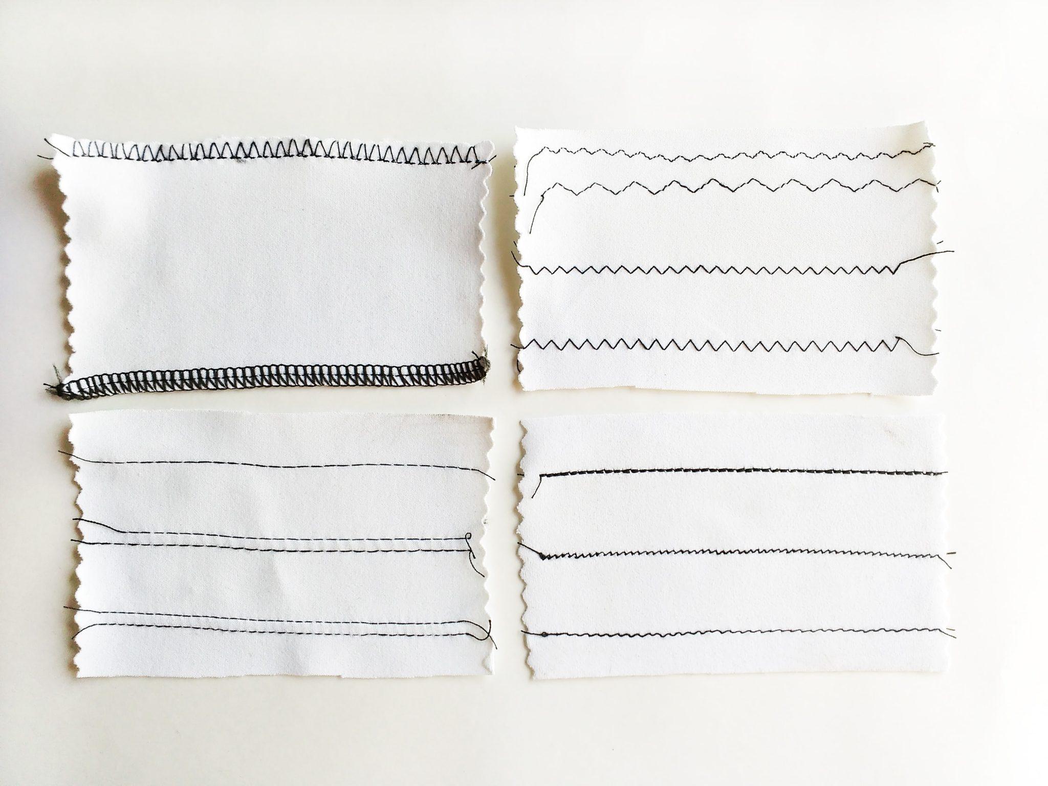 8 Puntadas esenciales para coser tejido de punto + Ficha de Puntadas ...