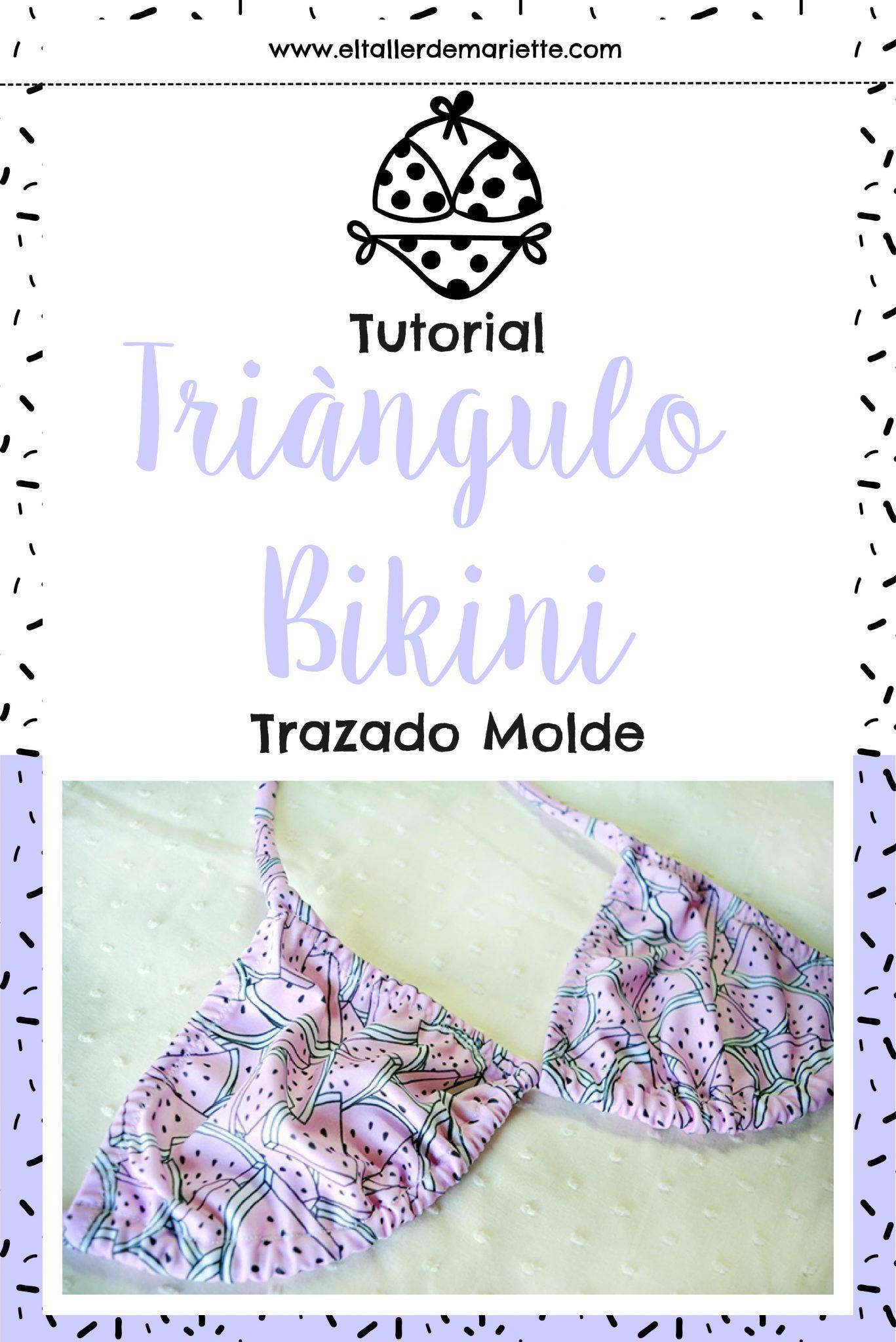 Tutorial: ¿Cómo hacer el molde del Triángulo Bikini? | El Taller de ...